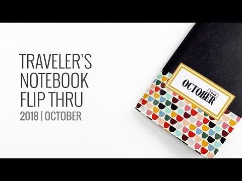 Traveler's Notebook Flip Through | October 2018