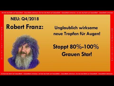 Unglaublich! Robert Franz bringt neue Tropfen für Augen | Stoppt 80% von Grauen Star!