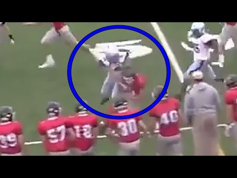Female High School Kicker Viciously Levels Kick Returner