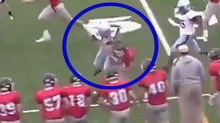 Female High School Kicker Viciously Levels Kick Returner thumbnail