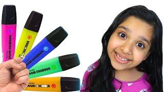 شفا والأقلام السحرية preschool toddler learn color