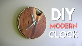 Gambar cover DIY Modern Live Edge Wall Clock // How To - Woodworking