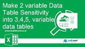 Create a One Variable Data Table - YouTube
