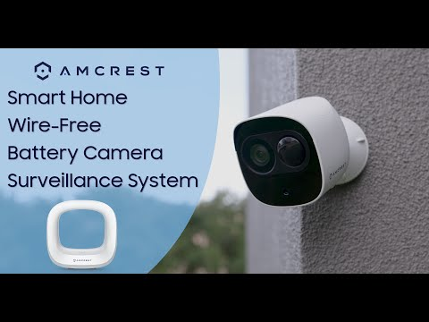 Amcrest Smart Home Wireless Security Camera System With Battery Camera And Smart Hub