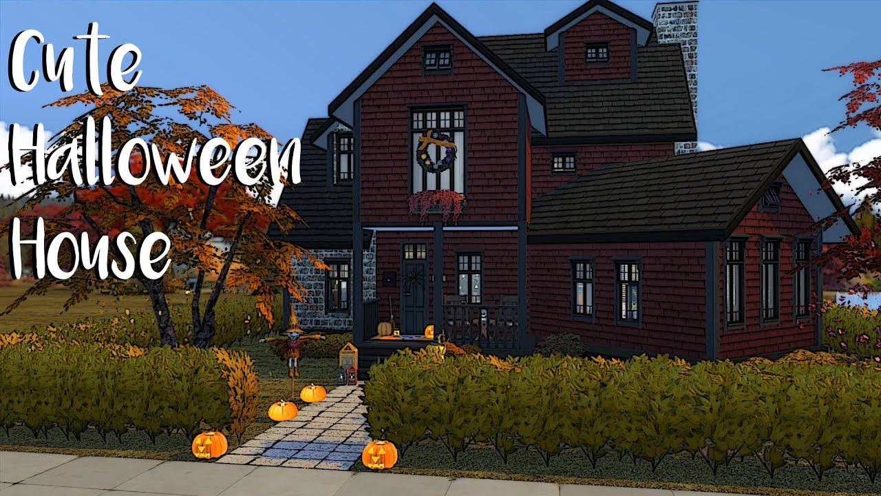 The Sims 4 Speed Build Halloween House Part 1 Cc Links