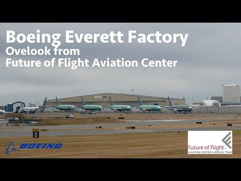 Boeing Everett Factory   Overlook from Future of Flight Aviation Center