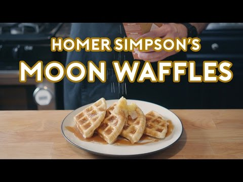 Binging with Babish: Homer Simpsons Patented Space Age Out-Of-This-World Moon Waffles