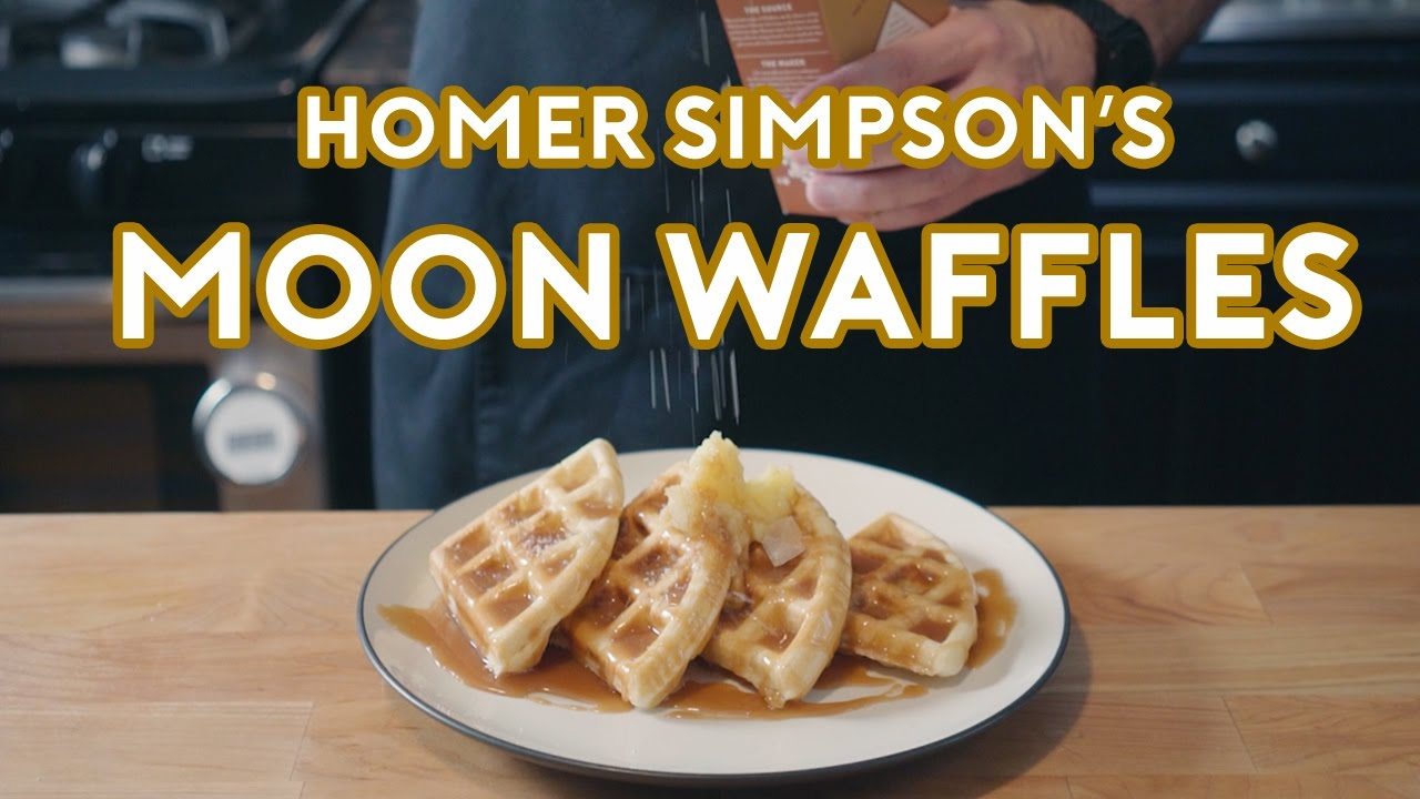 Binging With Babish Homer Simpsons Patented Space Age Out Of This World Moon Waffles