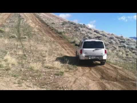 Nissan Armada, Pathfinder In Gorman Offroading Pronghorn Trail