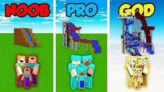 Minecraft NOOB vs. PRO vs. GOD : FAMILY WATER PARK in Minecraft! (Animation)