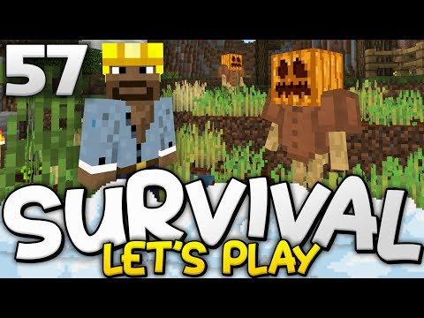 SCARECROWS AND WHEAT FARMS!!! - Survival Let's Play Ep. 57 - Minecraft Bedrock (PE W10 XB1)