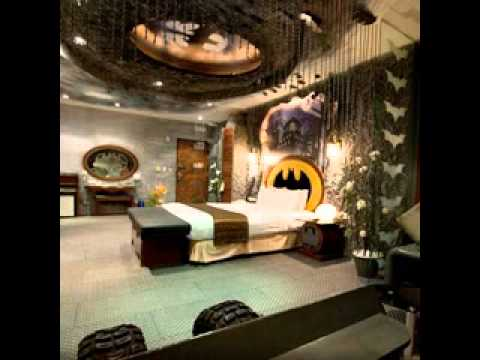 Batman bedroom design decorating ideas - YouTube