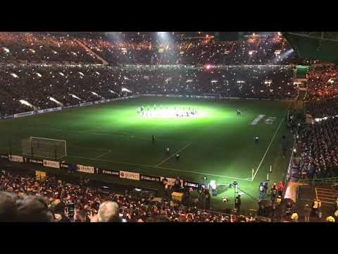 "Celtic Park ""Light Show/Walk On"" v RB Leipzig, Europa League, Thu 8 Nov 2018"