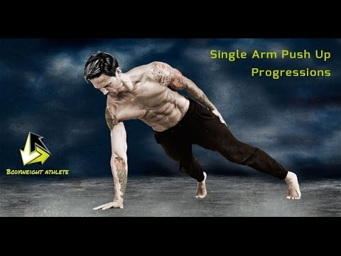 Single Arm Push Up Progressions Tutorial