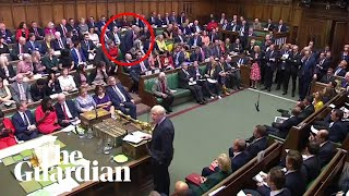 Tory MP Phillip Lee defects to Lib Dems midway through Johnson speech Video