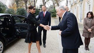 Mehriban Əliyeva Fransa Senatının sədri Jerar Larşe ilə görüşüb