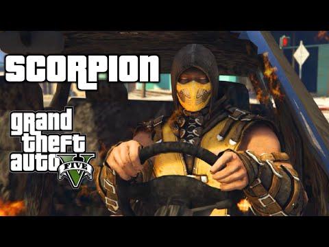 4a6c0c1bf1 GTA 5 - MORTAL KOMBAT SCORPION MOD SHOWCASE! - YouTube