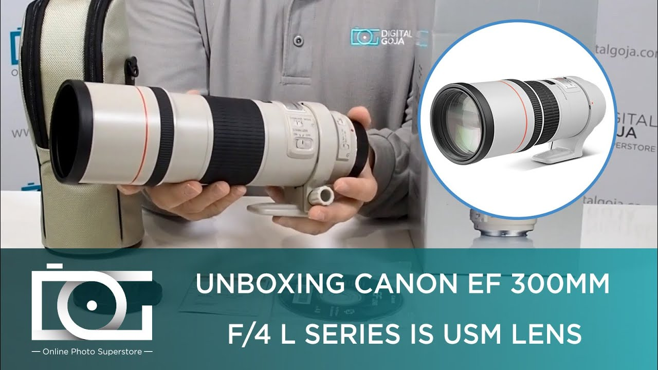 Unboxing Canon Ef 300mm F 4 L Series Is Usm Lens For 5d Mark Iii And Other Full Frame Cameras Youtube