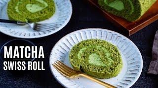How To Make Matcha Swiss Roll (Recipe) 抹茶ロールケーキの作り方 (レシピ)