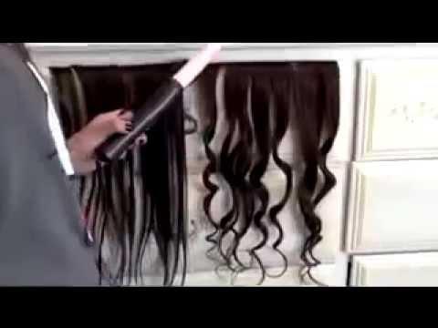 Волосы на заколках - YouTube