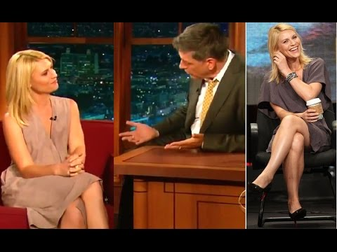 Sexy Claire Danes flirts with Craig Ferguson on the Late show