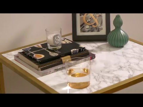 Simple Solutions: Luxe-look Ikea side table hack
