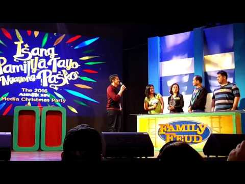 Family Fued With Luis Manzano Media Edition - ABS-CBN Media Party