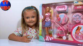 ✔ Видео для девочек. Распаковка новой куклы Штеффи от Ярославы. Steffi & Evi Love (SIMBA)
