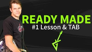 Guitar Lesson: How to play Ready made 1/2 - Red Hot Chili Peppers - intro&verse&chorus