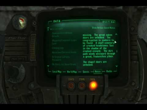 fallout 3 testing hall how to get out