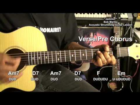 JAMMIN' Bob Marley & The Wailers How To Play On Guitar Lesson Jamming Jammin