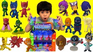 NEW PJ MASKS Collectible Figures Surprise Capsules Opening Fun with Owlette, Gekko Catboy TBTFUNTV