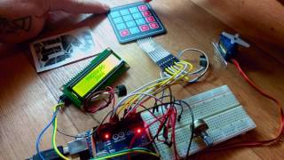 Arduino keypad door lock with i2c LCD -Test1