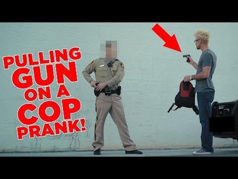 PULLING A GUN On A COP PRANK! (DO NOT ATTEMPT!)