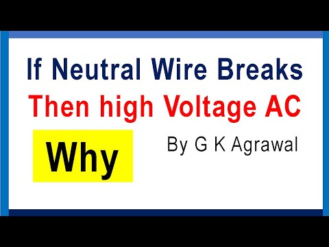 AC supply over voltage 400 V due to Neutral wire problem - YouTube