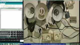 Arduino розетка с пультом управляем с ПК socket remote control controlled of  PC 433Mhz RF