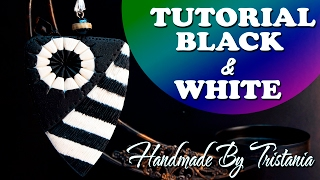Black & White-Pendant Polymer clay Tutorials🌟Мастер-класс:Кулон