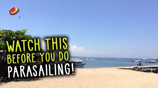 Watch this before you do Parasailing bali - Water sports