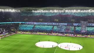 Trabzonspor Fenerbahçe maçı öncesi muhteşem kareografi