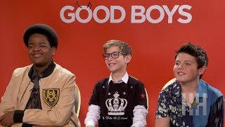 'Good Boys' Cast Talks About Kissing And Cussing