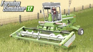 Koszenie trawy pokosówką - Farming Simulator 17 | #73