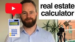 Real Estate Investment Calculator - Free Spreadsheet For Residential Property Investment