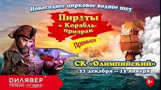 «Пираты и корабль призрак» новогодняя ёлка на воде