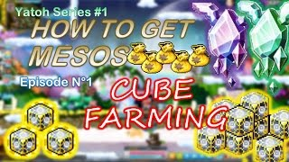 MapleStory - How to get Mesos Ep1: FARMING CUBES