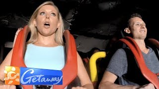 Charli checks out Movie World on the Gold Coast   Getaway