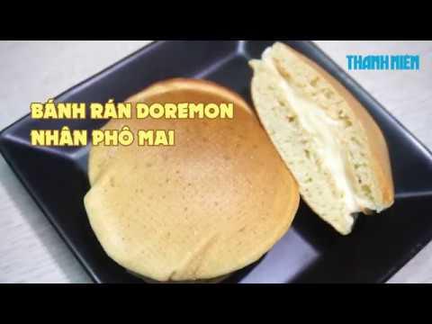 Cách làm bánh rán Đôrêmon nhân phô mai tan chảy siêu ngon