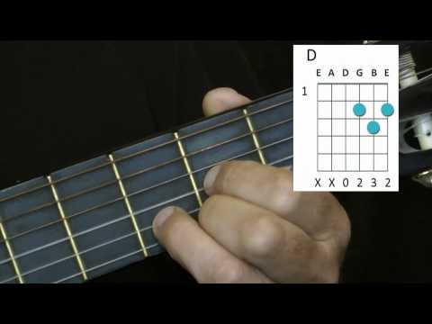 Vogelhochzeit, Gitarrenunterricht D-A7