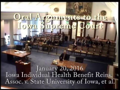 Iowa Individual Health Benefit Reins. Assoc. v. State University of Iowa, et al., January 20, 2016