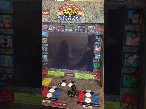 Street fighter arcade1up startup from Ron Litzenberger