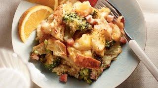 Broccoli Ham n Cheddar Strata
